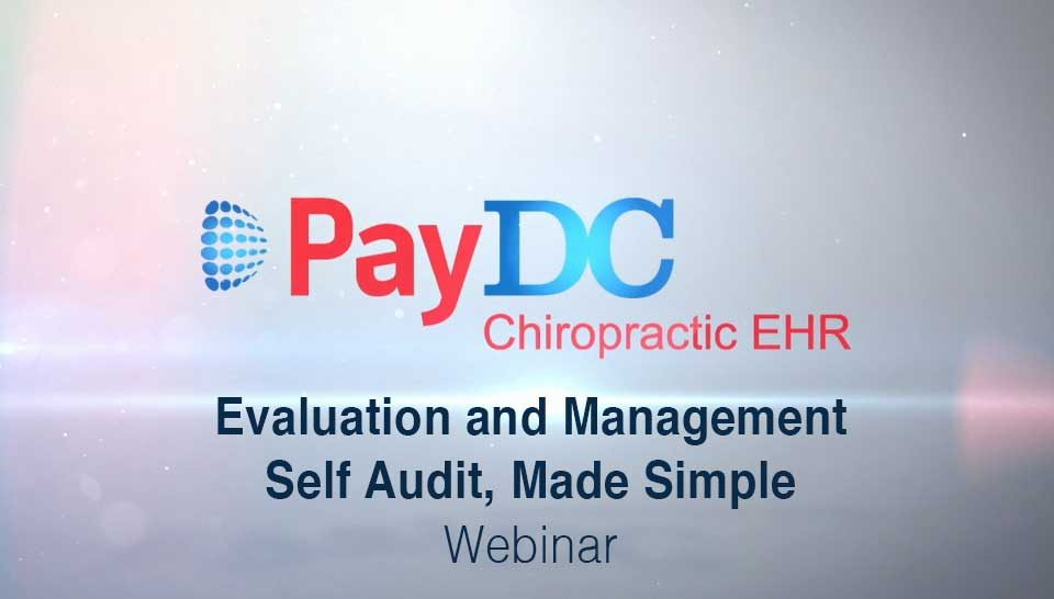 Cover Thumbnail Webinar Evaluation And Management Self Audit Part 1 PayDC