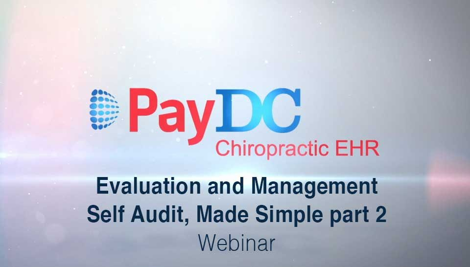 Cover Thumbnail Webinar Evaluation And Management Self Audit Part2 PayDC
